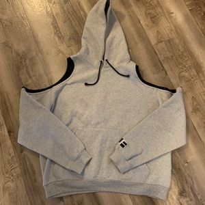 LF oversized Cold Shoulder Hoodie Sweater